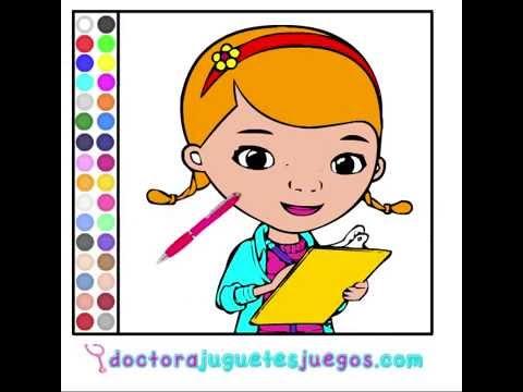 Juego  Colorear Doctora Juguetes