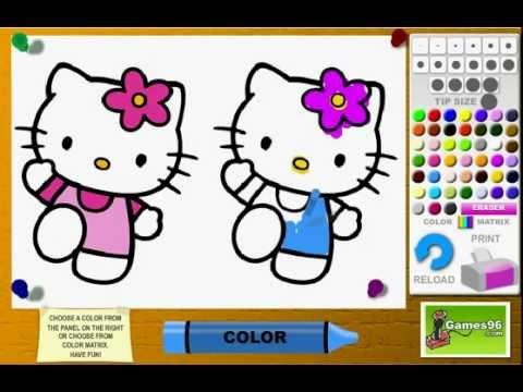 Juego  Colorear Hello Kitty