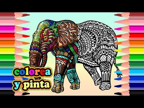 Elefante Mandala Para Colorear Mandala Elephant To Coloring