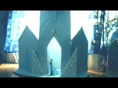 Tutorial  Castillo De Frozen Elsa Con Cartones Viejos