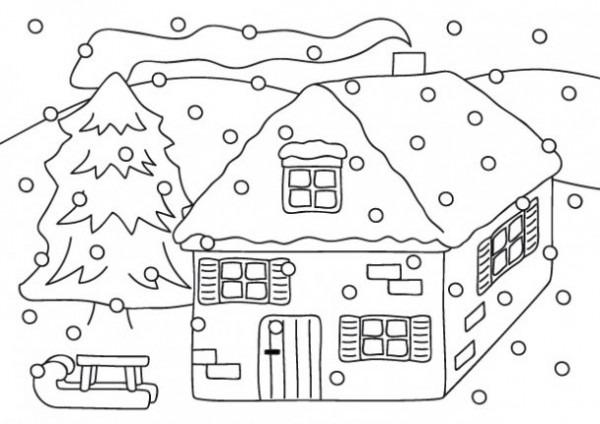 Dibujos De Bienvenido Invierno Para Imprimir Y Pintar
