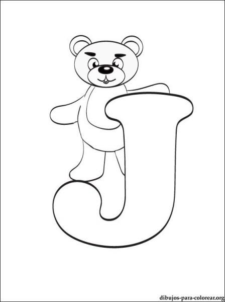 Dibujo De Letra J  Dibujos De Letras Para Imprimir