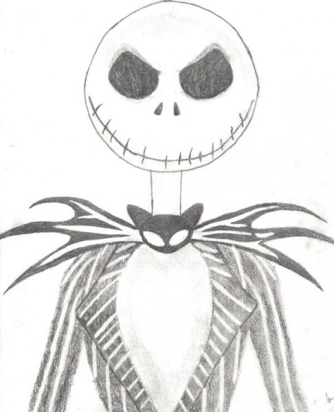 Jack Skeleton Para Colorear