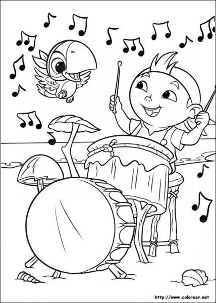 Dibujos Para Colorear De Jake Y Los Piratas Del País De Nunca Jamás