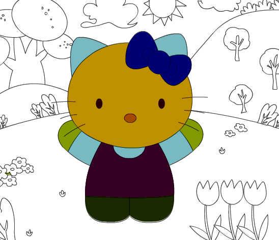 Juego De Colorear A Hello Kitty
