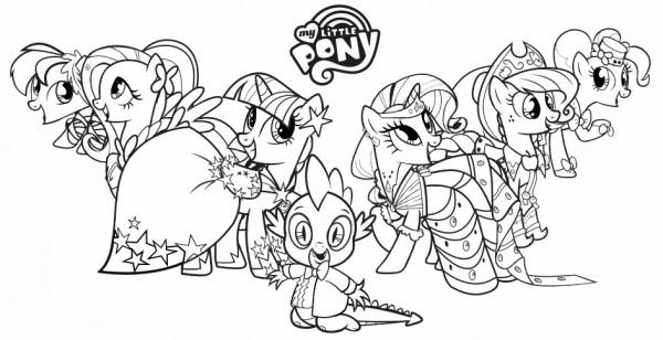 Dibujos Para Colorear De My Little Pony