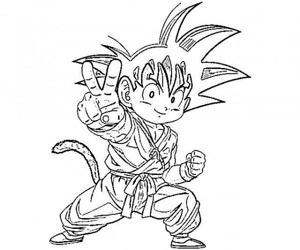 Imágenes Para Colorear De Goku