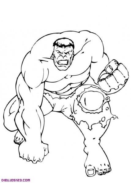 El Increible Hulk Para Colorear