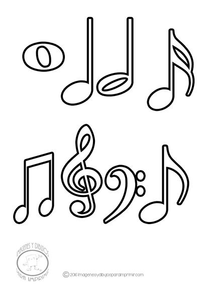 Imagenes De Dibujos De Las Notas Musicales Para Imprimir Y