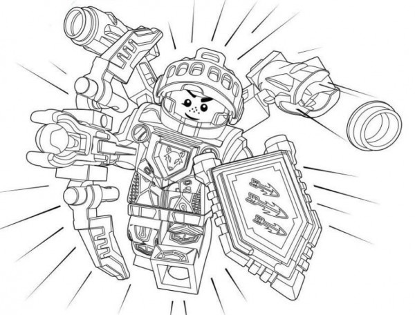 Lego Nexo Knights Para Colorear E Imprimir