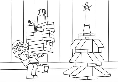 Dibujo De Star Wars  El Ataque De Los Clones En Navidad De Lego