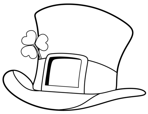 Download St Patrick S Day Hat Coloring Page