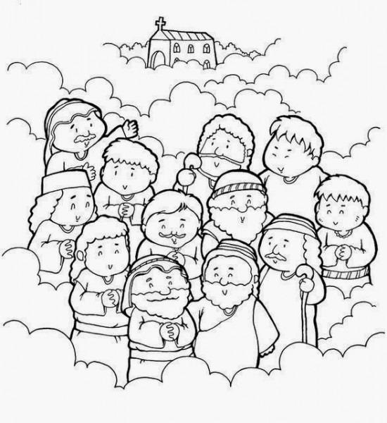 Imagenes Cristianas Para Colorear  Dibujos Para Colorear De Los