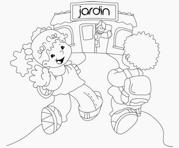 Maestra Jardinera Dibujo Maestra Jardinera Para Colorear