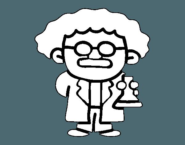 Dibujo De Maestro En Ciencias Para Colorear