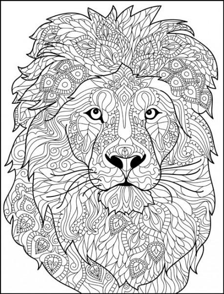 Mandalas De Animales Para Colorear  León