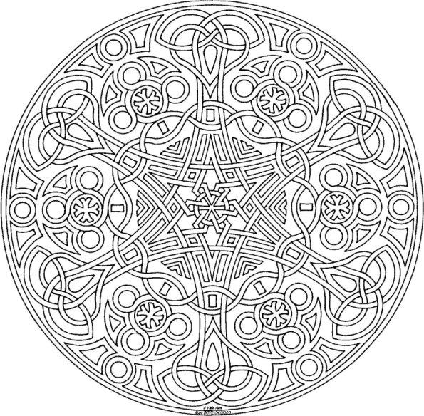 Mandalas Para Colorear Dificiles