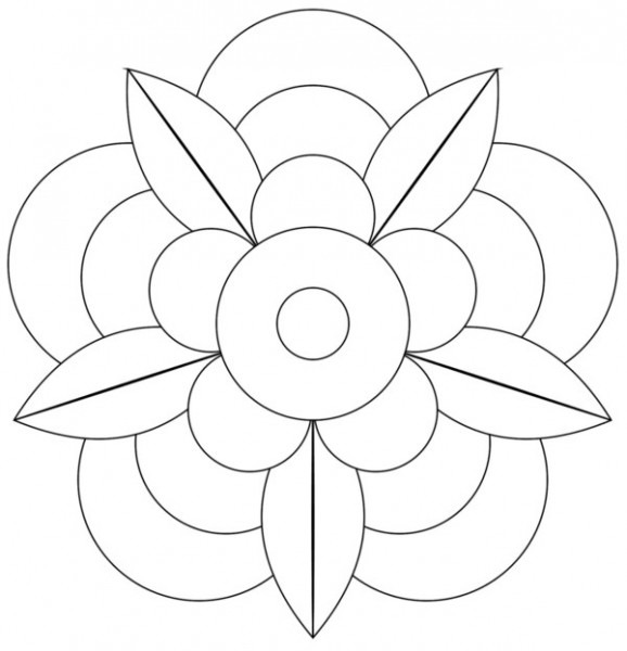 196 Dibujos De Mandalas Para Colorear Fáciles Y Difíciles