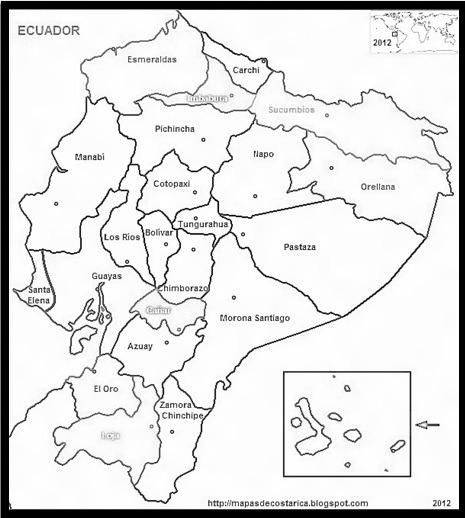 Mapa Del Ecuador Para Colorear