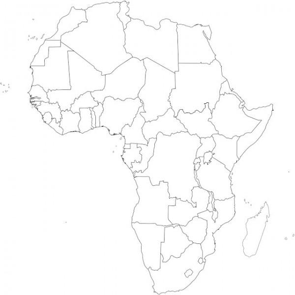 Mapas De África  Mapas Políticos, Mapas En Blanco, Mapas Curiosos