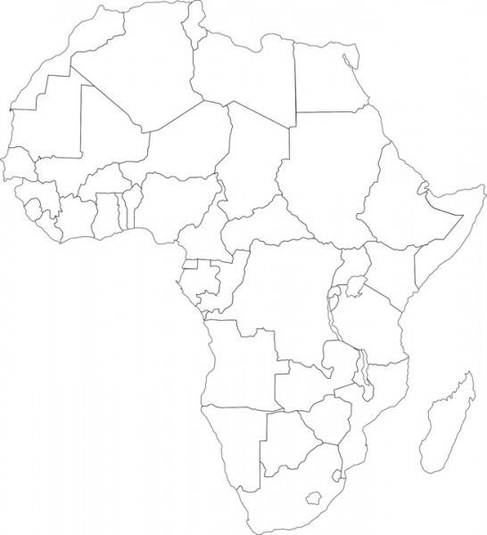 ▷ Mapa De África Para Imprimir