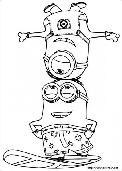 Dibujos Para Colorear De Minions