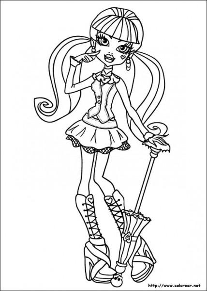 Dibujos De Monster High Para Colorear En Colorear Net
