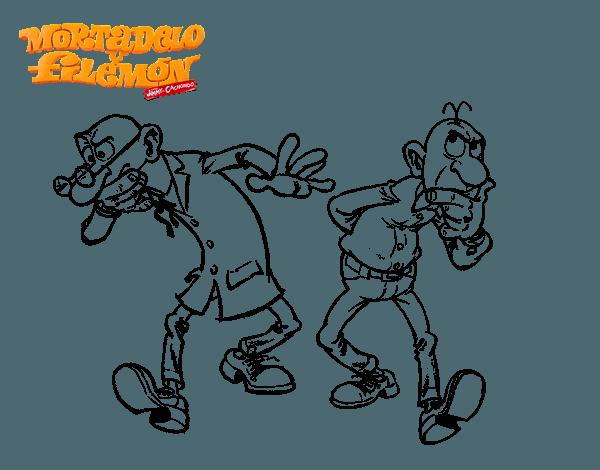 Dibujo De Mortadelo Y Filemón Para Colorear