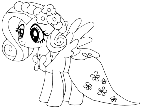 Dibujo De My Little Pony Fluttershy Para Colorear