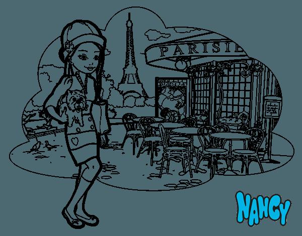 Dibujo De Nancy En París Para Colorear
