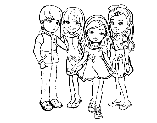 Dibujo De Nancy Y Sus Amigos Para Colorear