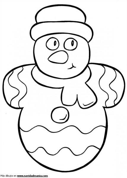 Dibujo De Muñeco De Nieve De Dulce Para Colorear De Navidad