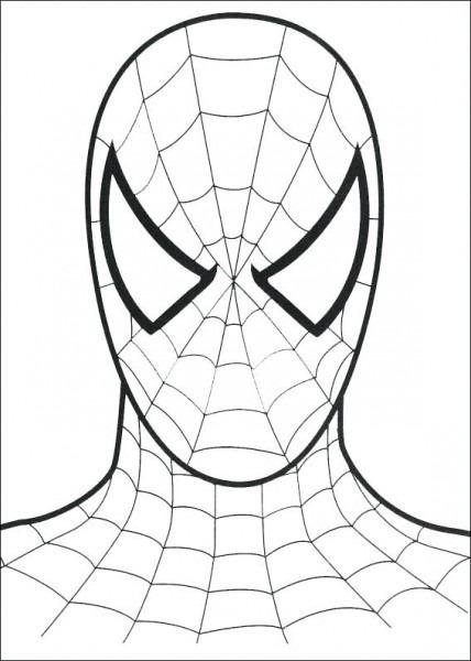 Imagenes De La Cara De Spiderman Para Colorear