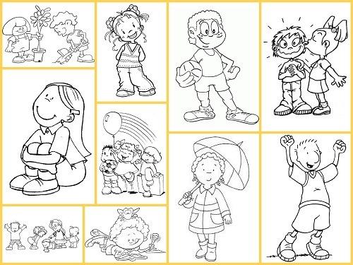 Dibujos Para Colorear  Niños Y Niñas