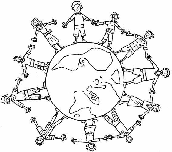 Niños Alrededor Tierra
