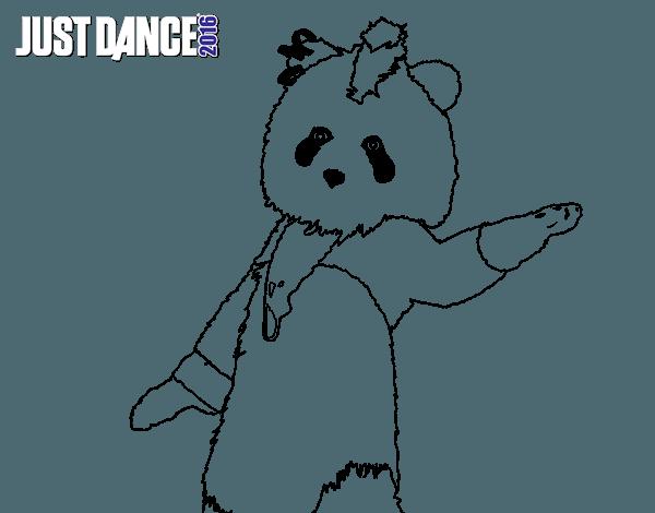 Dibujo De Oso Panda Just Dance Para Colorear