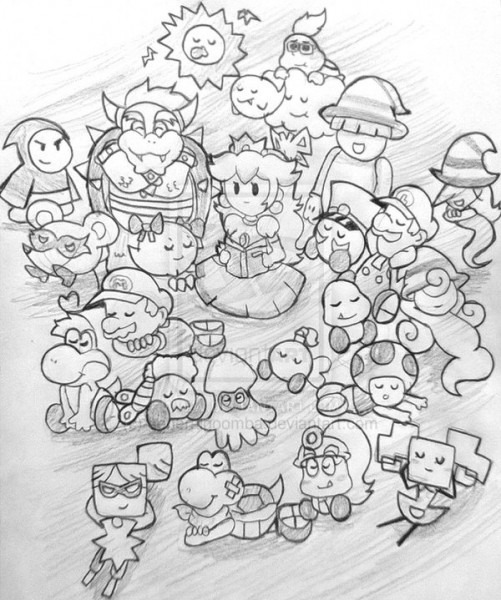 Mario Party 9 Para Colorear
