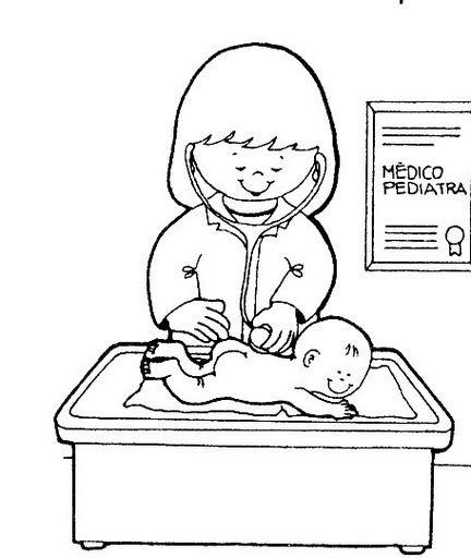Una Pediatra Para Colorear