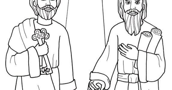 Materiales De ReligiÓn CatÓlica  San Pedro Y Pablo  Dibujos Para
