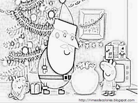 Blog De Los Niños  Dibujos De Navidad De Peppa Pig Para Colorear