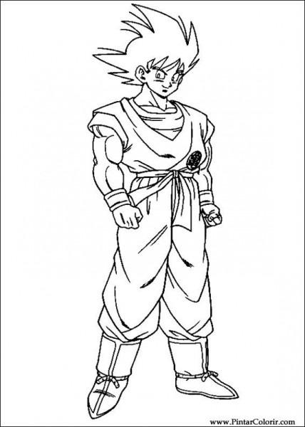 Dibujos Para Pintar Y Color Dragon Ball Z