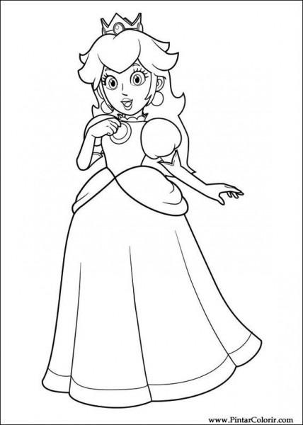 Dibujos Para Pintar Y Color Super Mario Bros