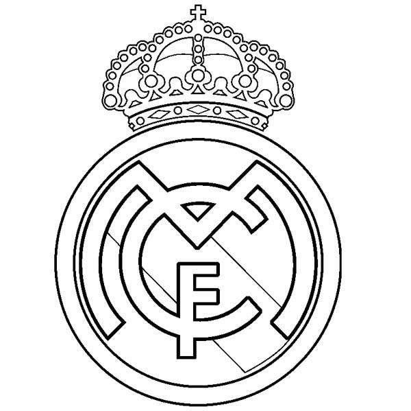 Plantilla Con El Escudo De Real Madrid Para Imprimir Gratis