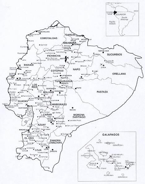 Mapa Politico Del Ecuador Para Colorear