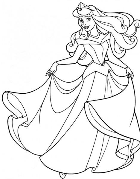 Las Princesas Para Colorear  Princesa Aurora Para Colorear E Imprimir
