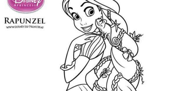 Dibujos De Rapunzel Para Colorear Gratis