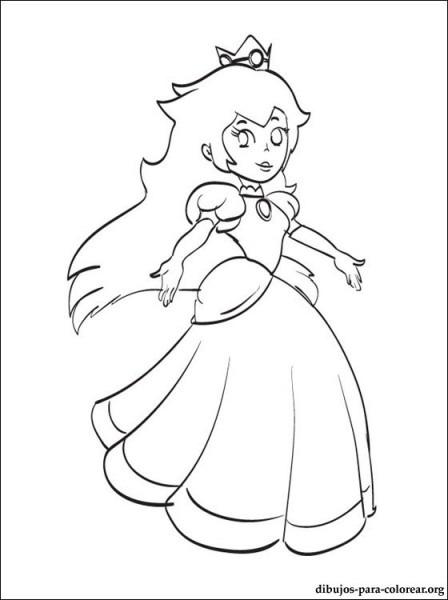 Dibujo De Princesa Peach De Mario Para Imprimir