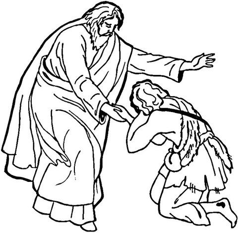 Dibujo De La Parábola Del Hijo Pródigo Para Colorear