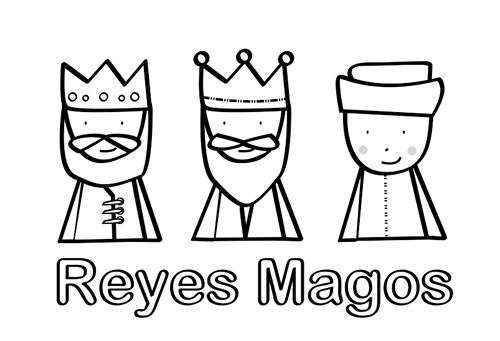 Dibujos Para Colorear De Los Reyes Magos Para Imprimir (foto