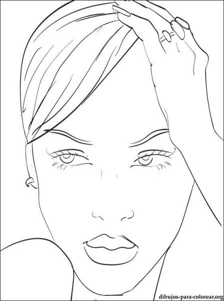 Dibujo De Rihanna Para Imprimir